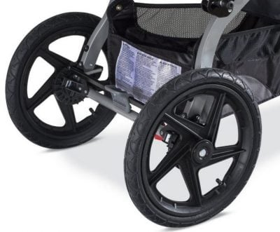 BOB Revolution PRO Duallie - Large rear wheels with air-filled tires