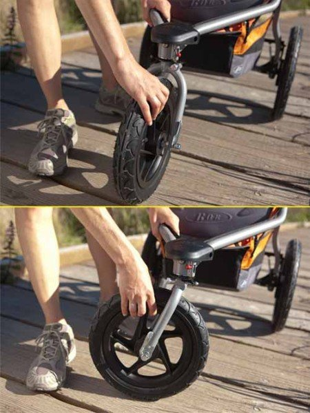 BOB Revolution CE - Lockable swivel front wheel