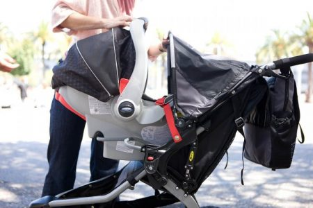 BOB Revolution CE can be used as a travel system with infant car seats from popular brands
