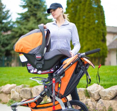 BOB Revolution SE Single Stroller - travel system with infant car seat