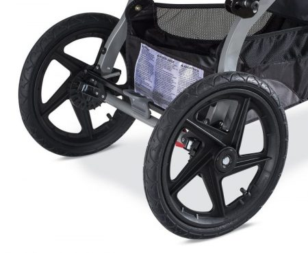 BOB Revolution PRO (2016) has large air-pumped wheels which are perfect for the harsh terrain