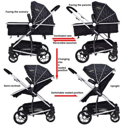 Costzon Foldable Baby Stroller - Convertible seat