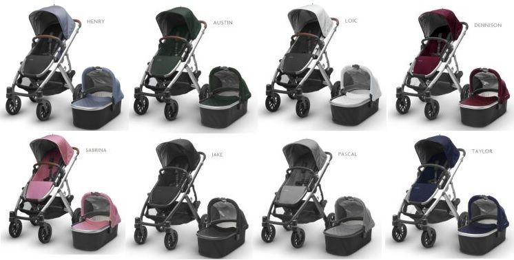 UPPAbaby Vista - all color versions
