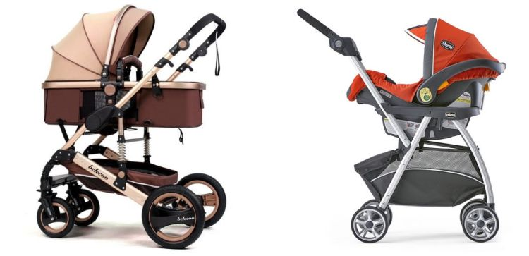 prams vs infant car seat frame