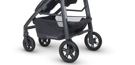 UPPAbaby CRUZ offers large storage under the seat with capacity of 30 lbs!