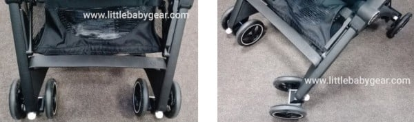 GB Pockit Plus - Swivel lockable front wheels