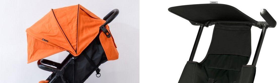 GB Pockit sunshade vs ZOE XL1 canopy