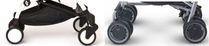 BabyZen Yoyo + single wheels vs UPPAbaby G-LUXE dual wheels