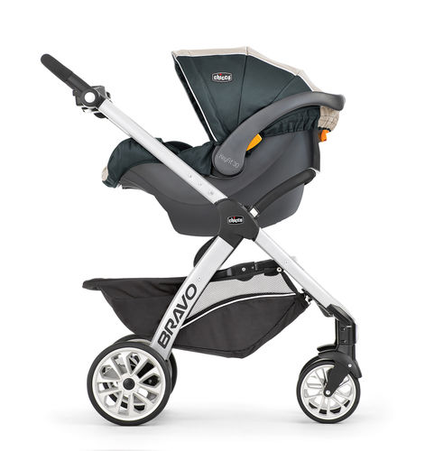Chicco Bravo Trio Travel System with Key Fit 30 infant car seat
