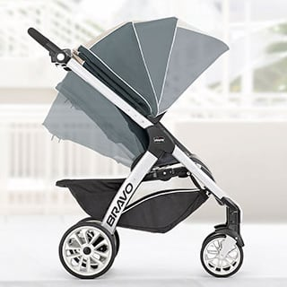 Chicco Bravo Trio Travel System recline seat