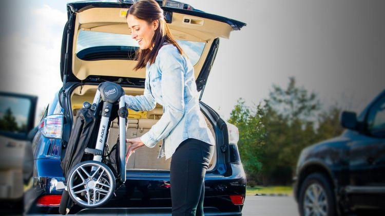 Britax 2017 B-Agile Stroller folded