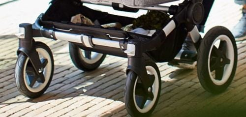 Bugaboo Donkey2 wheels provide ultra smooth ride