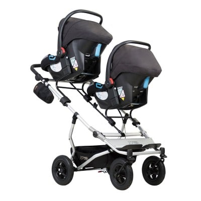 Mountain Buggy Duet 2017 with two infant car seats