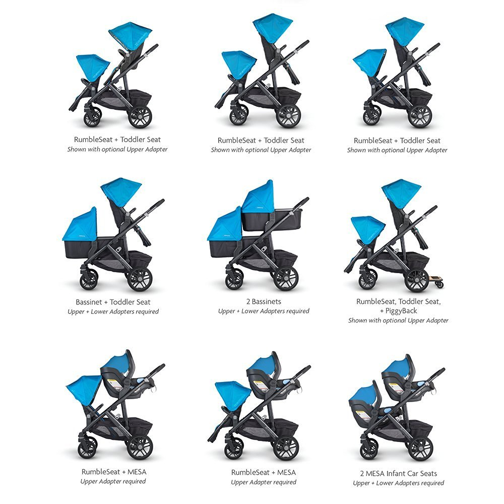 UPPAbaby Vista seating options