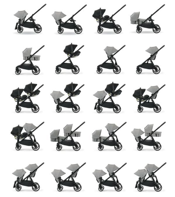 Baby Jogger City Select LUX 2017 all seating options