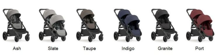 Baby Jogger City Select LUX 2017 stroller color versions