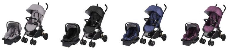 Evenflo Sibby Travel System all color versions Cheap stroller with car seat