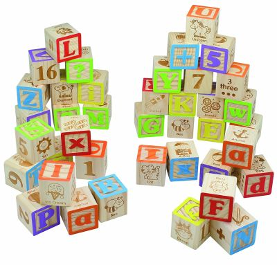 Maxim Deluxe Wooden ABC Blocks Christmas Gift Idea For Baby