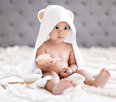 Natemia Extra Soft Baby Bamboo Hooded Towel