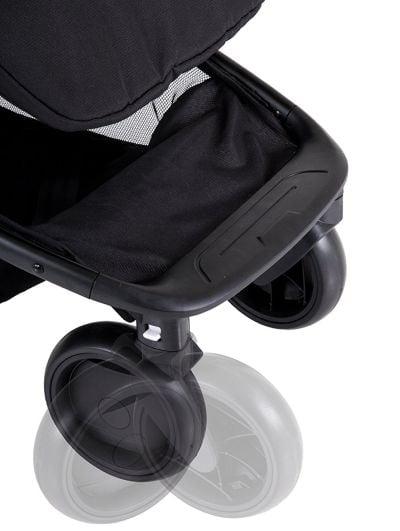 Mountain Buggy Nano - swiveling front wheels