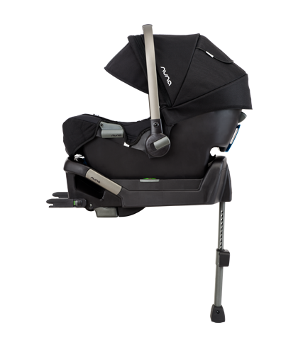 Nuna PIPA car seat with stability leg absorbing the impact