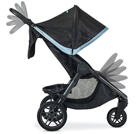 Britax B-Free has not only adjustable calf rest but also adaptable handlebar