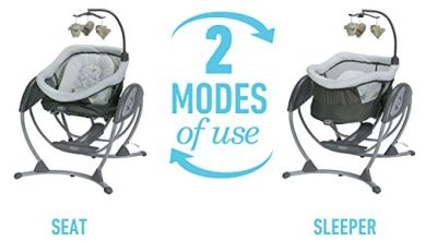 Moms love 2-in-1 products! We can use DreamGlider as baby swing and bassinet