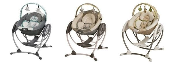 Graco Glider LX Gliding Swing color version Affinia Peyton Raffy