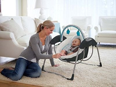 Graco Glider Lite LX Gliding Baby Swing will help you to comfort your colic baby