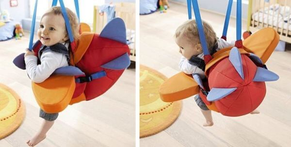 HABA Aircraft Swing - best swing for older baby