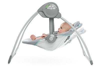 Ingenuity Comfort 2 Go Portable Swing is perfect for naptime thanks to noiseless operation