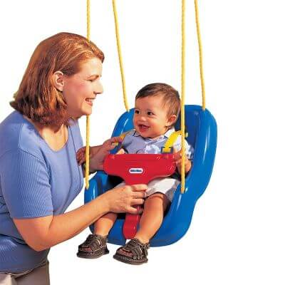Little Tikes 2-in-1 Snug 'n Secure Swing can be used outdoor and indoor