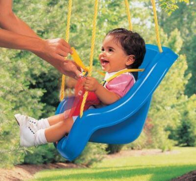 Little Tikes 2-in-1 Snug 'n Secure Swing - best outdoor baby swing