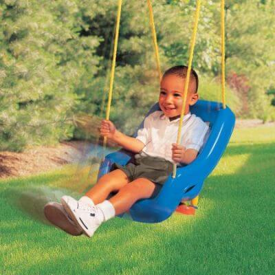 Little Tikes 2-in-1 Snug 'n Secure Swing grows with the baby and has maximum capacity of 50 lbs