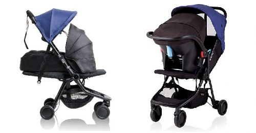 Mountain Buggy Nano has two options for newborns: cocoon carrycot and infant car seat (sold separately)