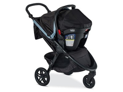 You can use Britax B-Free from birth with an infant car seat