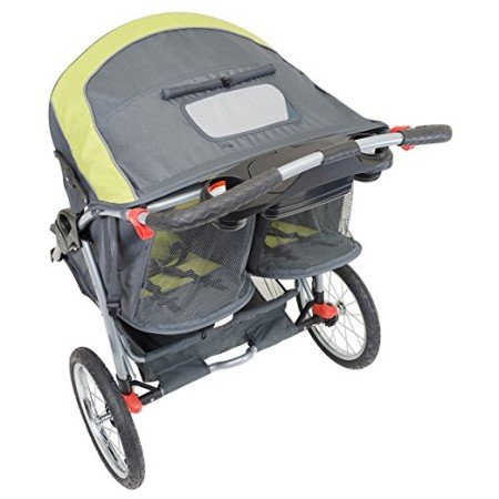 Baby Trend Expedition Double has one canopy for two seats