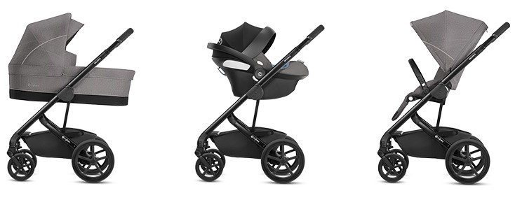 Thanks to many seating options CYBEX Balios S is suitable for newborns and toddlers