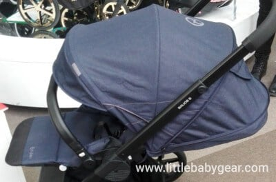 Cybex Balios S- Near-flat recline and fully extended canopy