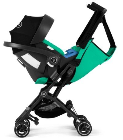 GB Pockit Plus can serve as a travel system with Cybex and GB infant car seats