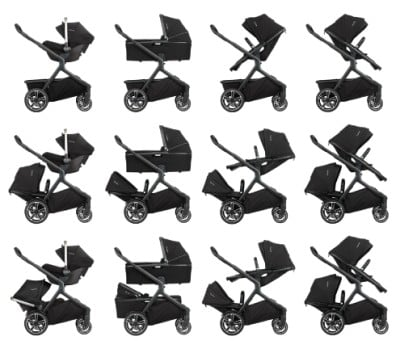 Nuna Demi Grow 2018 - Some of the seating configurations