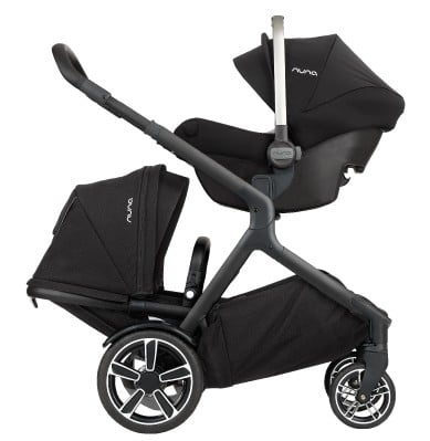 Nuna Demi Grow 2018 with infant car seat and toddler seat