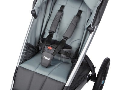 Thule Urban Glide has super soft seat padding. The harness (even the waist straps) also has nicely padded covers.