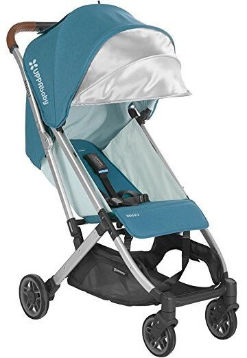 UPPAbaby MINU - Deep recline and fully extended canopy with pop out sun visor
