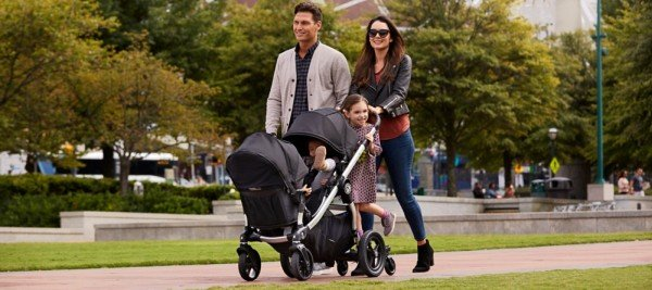 Baby Jogger City Select Double Stroller with seats facing each other