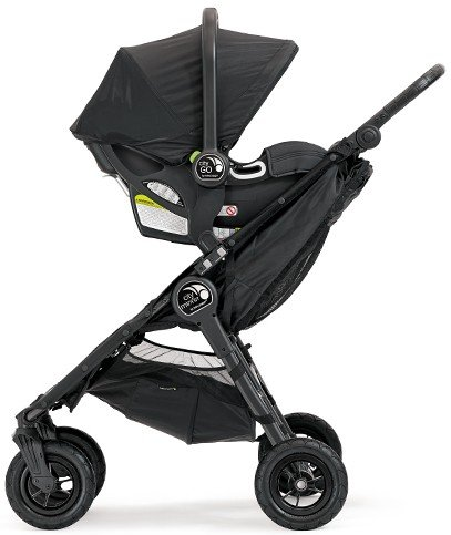 Baby Jogger City Mini GT Double Stroller With Infant Car Seat