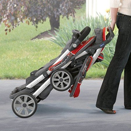 Chicco Cortina Together Double Stroller - Folded