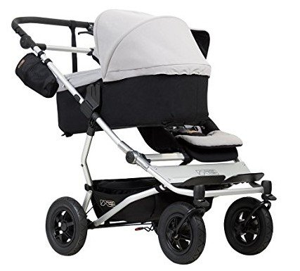 Mountain Buggy Duet V3 with one bassinet and one toddler seat