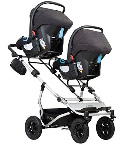 Mountain Buggy Duet V3 with two infant car seats