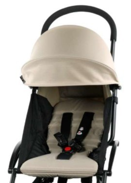 BABYZEN YOYO+ has 5-point harness and nicely padded seat. The seat fabric is removable and machine-washable